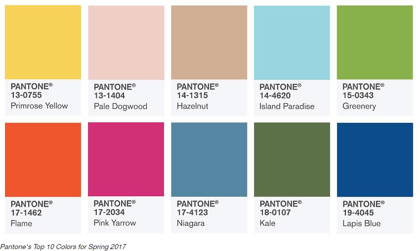 Culori fashion in 2017
